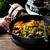 carne · de · vacuno · ternera · vintage · sartén · atención · selectiva · alimentos - foto stock © zoryanchik