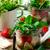 caprese · salatası · mason · kavanoz · stil · rustik · gıda - stok fotoğraf © zoryanchik