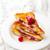 french toast stuffed ricotta and raspberry stock photo © zoryanchik