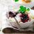 sütlaç · derin · mavi · plaka · gıda · ahşap - stok fotoğraf © zoryanchik