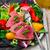 seared tuna steaks with greens stock photo © zoryanchik