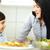 gelukkig · weinig · jongen · kom · verse · groenten · vers - stockfoto © zurijeta