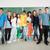 osztálytársak · pózol · csetepaté · iskola · iskolatábla · oktatás - stock fotó © zurijeta