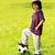 retrato · parque · futebol · crianças · criança - foto stock © zurijeta