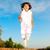 gelukkig · meisje · springen · veld · gras · bos - stockfoto © zurijeta