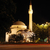 mosque crescent and star traffic and lights at night stock photo © zurijeta