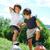 dois · pequeno · crianças · parque · quadro · bonitinho - foto stock © zurijeta