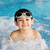 little cute boy in blue water of the swimming pool summer time for fun stock photo © zurijeta
