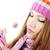gyönyörű · lány · cukorka · mosolyog · gyönyörű · fiatal · nő · finom - stock fotó © zurijeta