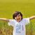 かわいい · 幸せ · 子供 · 草 · 髪 · 顔 - ストックフォト © zurijeta