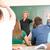 profesor · senalando · dedo · educación · estudiantes · retrato - foto stock © zurijeta
