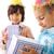 doğum · günü · partisi · mutlu · çocuklar · balonlar · hediyeler - stok fotoğraf © zurijeta