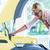 woman checking car engine stock photo © zurijeta
