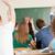 blijde · hoogleraar · schoolbord · naar · studenten · onderwijs - stockfoto © zurijeta