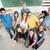boldog · diákok · fölött · csoport · osztályterem · oktatás - stock fotó © zurijeta