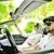 mężczyzna · kobiet · znajomych · samochodu · uśmiech - zdjęcia stock © zurijeta