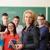 groep · studenten · hoogleraar · gelukkig · leraar · schoolbord - stockfoto © zurijeta
