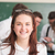 mosolyog · diák · fiatal · pózol · kollégák · oktatás - stock fotó © zurijeta
