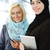 middle eastern business people working together in modern office stock photo © zurijeta