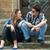 adolescentes · quatro · rua · amor · cidade - foto stock © zurijeta