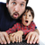 father and son on laptop shock stock photo © zurijeta