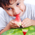 子 · 食べ · スイカ · 幸せ · ビッグ · 赤 - ストックフォト © zurijeta