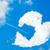 coração · nuvens · dois · lado · textura - foto stock © zurijeta