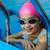 girl in protective goggles leaves pool stock photo © zurijeta