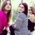 three happy girls in park together stock photo © zurijeta