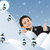 conceptual photo combined with illustration new year winter and snow child and happiness for your stock photo © zurijeta