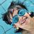 kicsi · fiú · úszómedence · védőszemüveg · kék · portré - stock fotó © zurijeta
