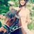 zadel · bereid · paardrijden · jonge · vrouw · vrouw - stockfoto © zurijeta