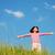 feliz · infância · verde · prado · blue · sky · amor - foto stock © zurijeta