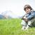 kicsi · fiú · gyönyörű · tavasz · vakáció · idilli - stock fotó © zurijeta