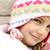 adorável · little · girl · positivo · rosto · sorridente · moda · neve - foto stock © zurijeta