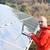 ingegnere · lavoro · laptop · pannelli · solari · giovani - foto d'archivio © zurijeta