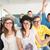 smiling high school students stock photo © zurijeta
