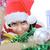 heyecanlı · küçük · kız · açılış · Noel · sunmak - stok fotoğraf © zurijeta