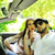 young couple hanging together in car outdoors stock photo © zurijeta