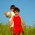 felice · giovani · fratelli · erba · ritratto · ragazza - foto d'archivio © zurijeta