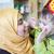 Müslüman · aile · doğum · günü · kadın · parti · yüz - stok fotoğraf © zurijeta