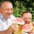 beauté · petite · fille · manger · pastèque · alimentaire · heureux - photo stock © zurijeta