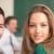 two cheerful students stock photo © zurijeta
