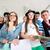 csoport · osztálytársak · pózol · szemüveg · osztályterem · diák - stock fotó © zurijeta