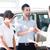 Salesman handing car keys stock photo © zurijeta