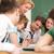 professore · posa · studenti · gruppo · sala · scuola - foto d'archivio © zurijeta