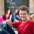 portret · gelukkig · puber · glimlachend · straat · stad - stockfoto © zurijeta