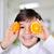 piccolo · ragazzo · giocare · arancione · fette · occhi - foto d'archivio © zurijeta