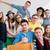 mosolyog · osztálytársak · pózol · együtt · osztályterem · oktatás - stock fotó © zurijeta