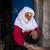 senior · mulher · porta · de · entrada · atraente · aperto · de · mãos · visitante - foto stock © zurijeta
